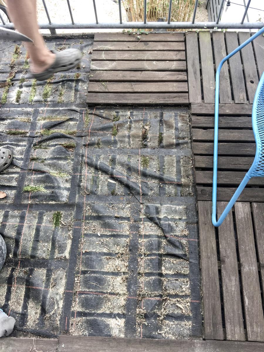 Pimp your balcony Vorbereitung des Bodens