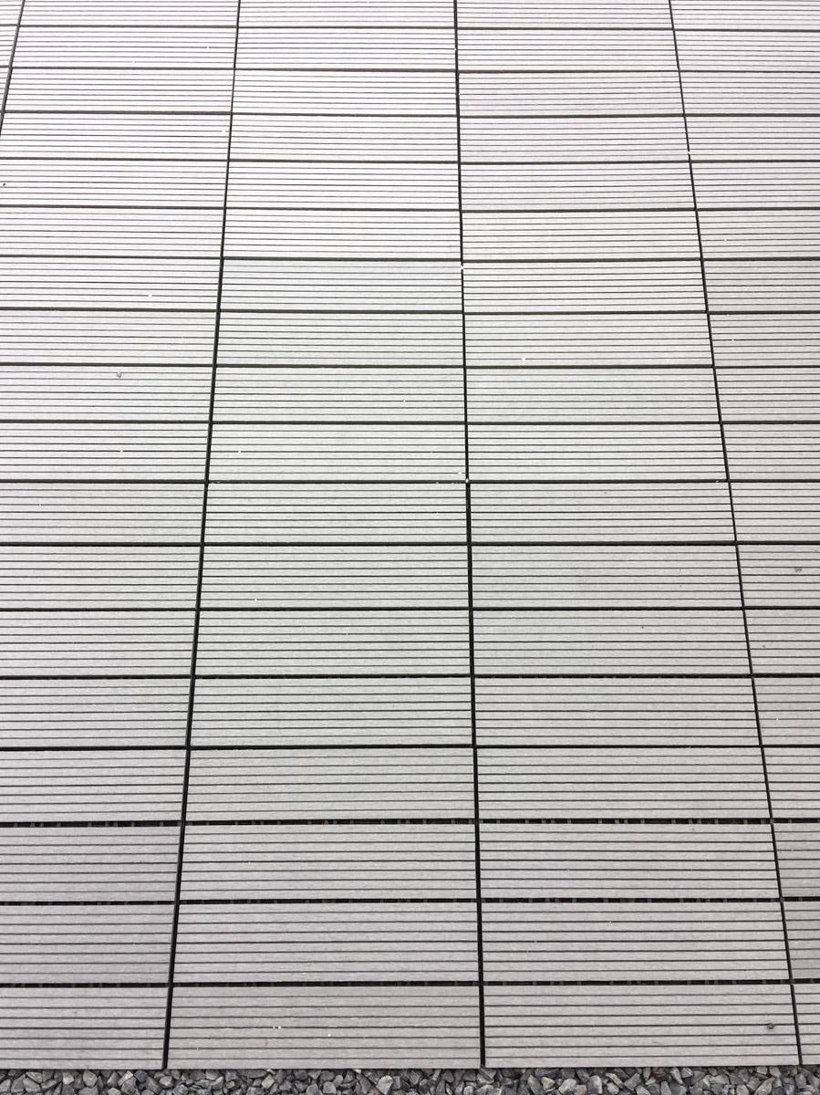 Renovierung Balkon neue Platten grau