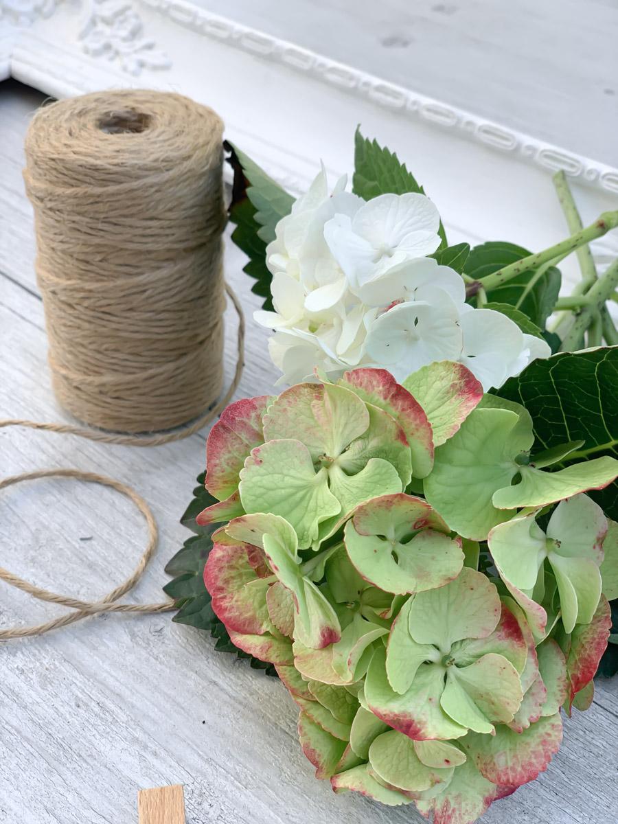 Blüten und Kordel