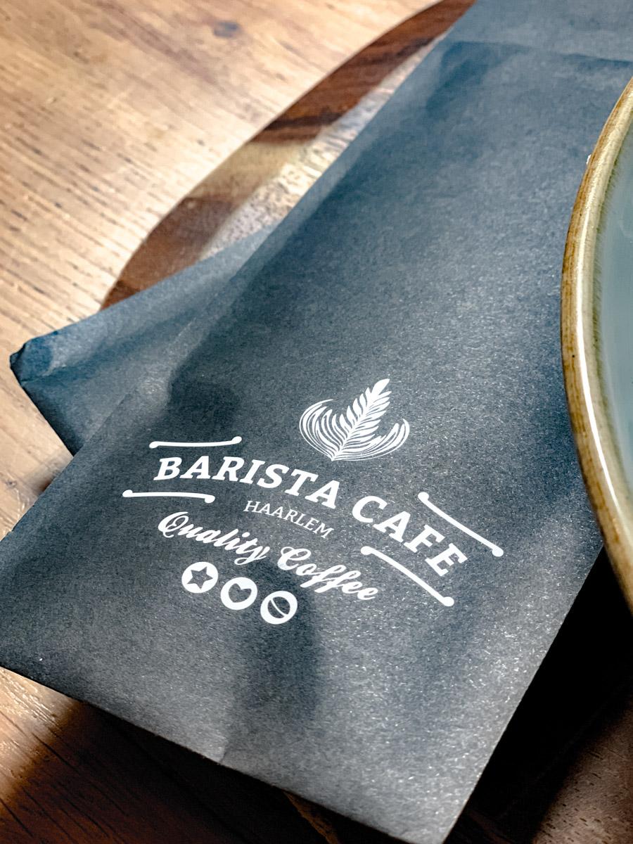 Pause im Barista Café in Haarlem