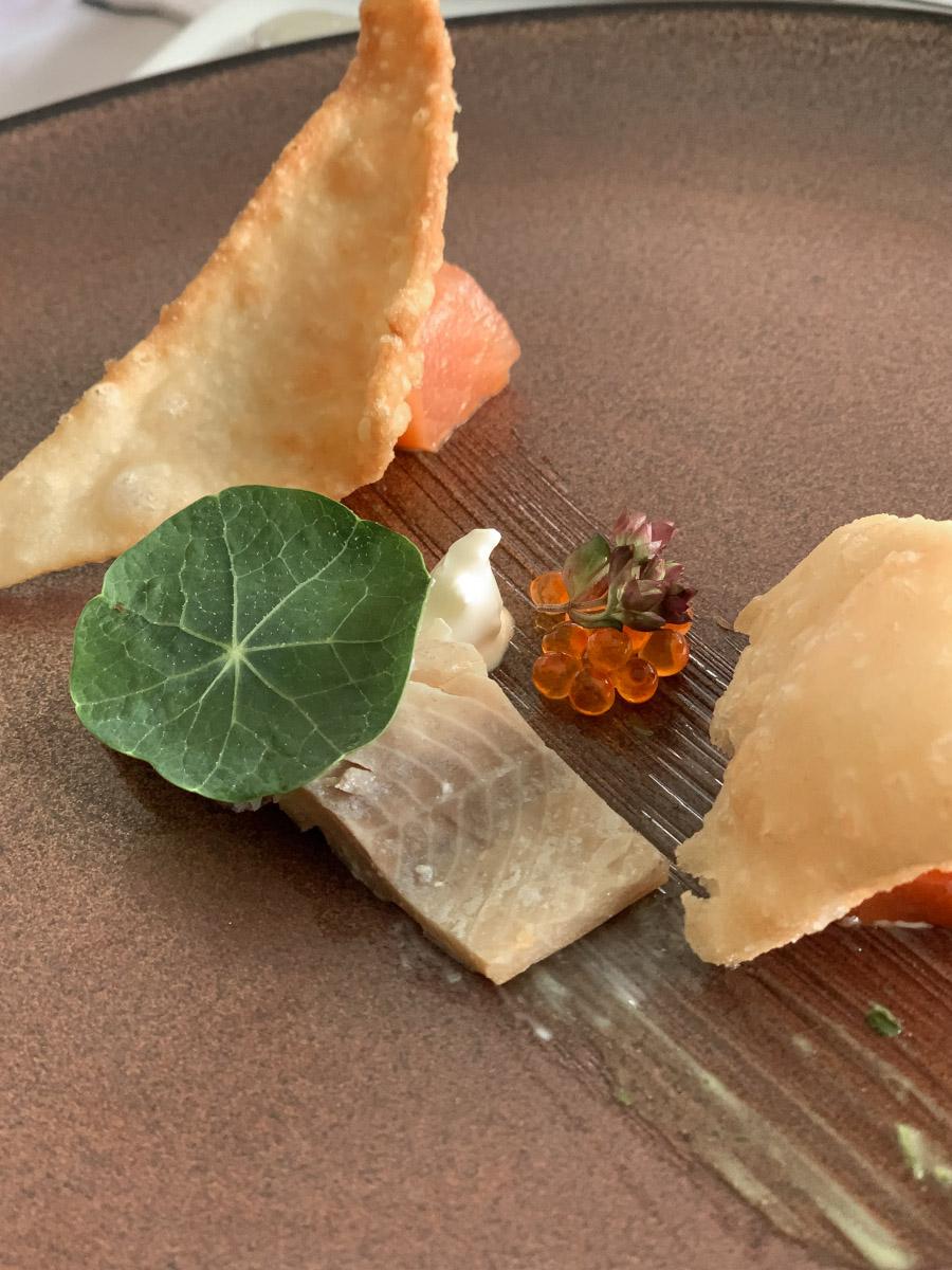 Urlaub im Wellnesshotel Vorspeise mit Kaviar
