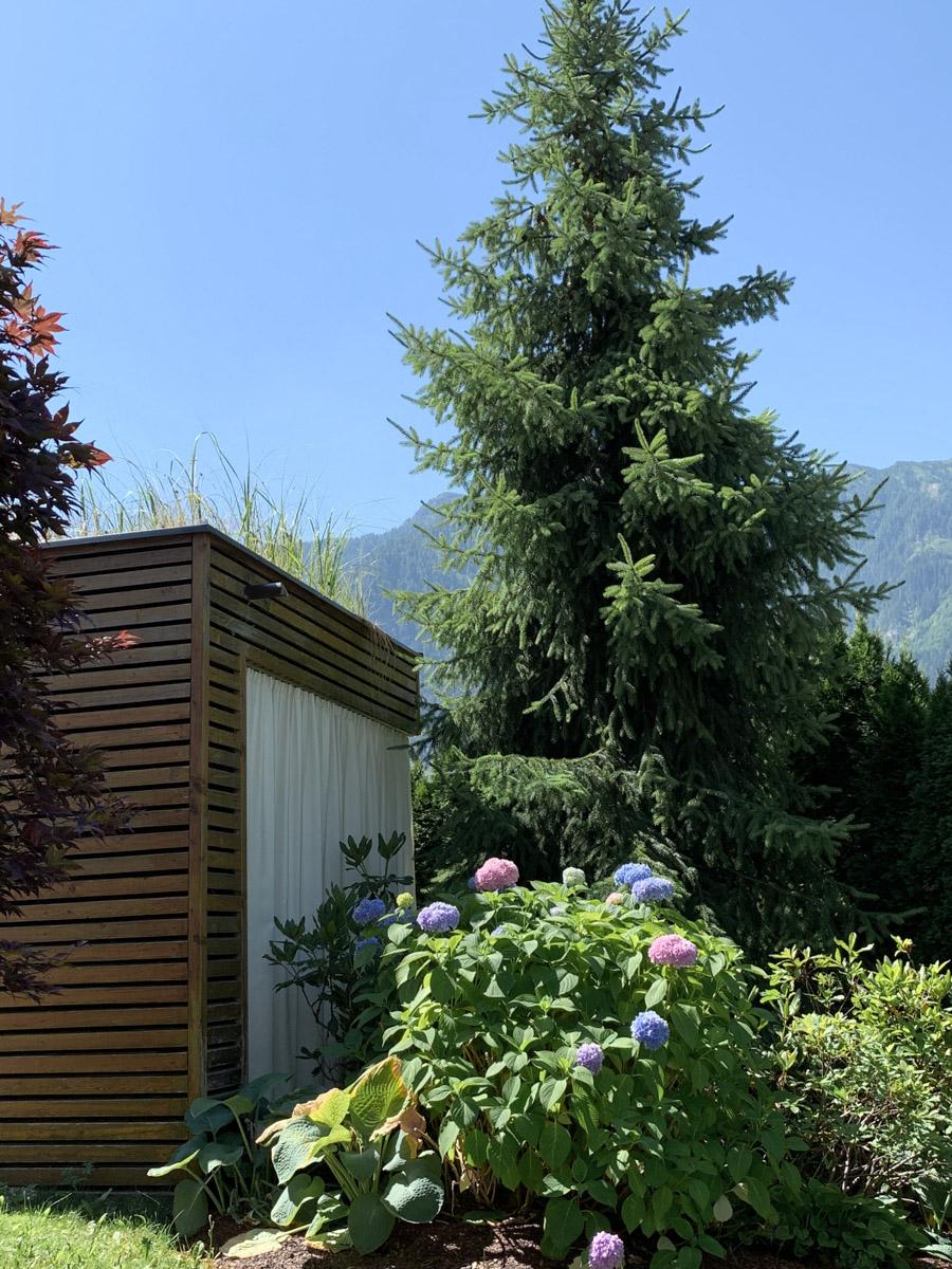 Urlaub in Österreich Gartenansicht Hotel Sonnhof