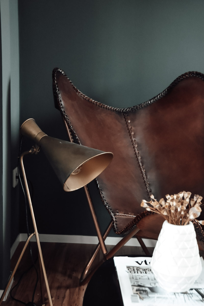 Butterfly Sessel aus Leder