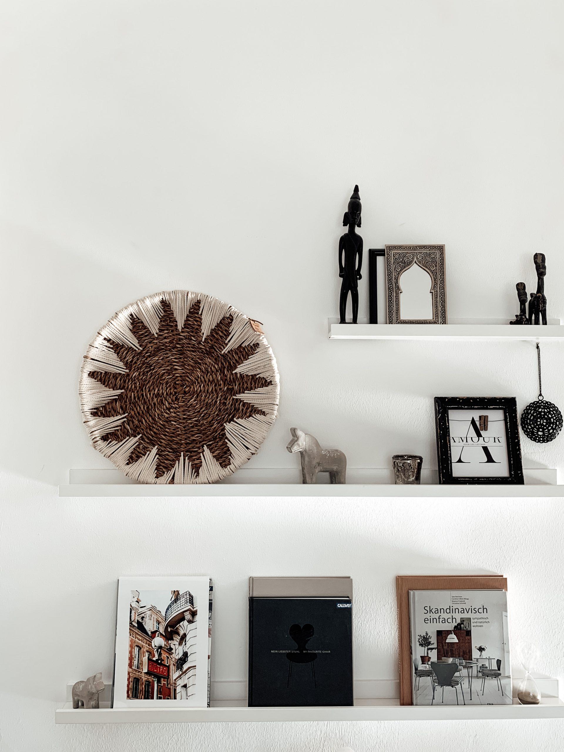DIY-Korb auf Bilderleiste dekoriert