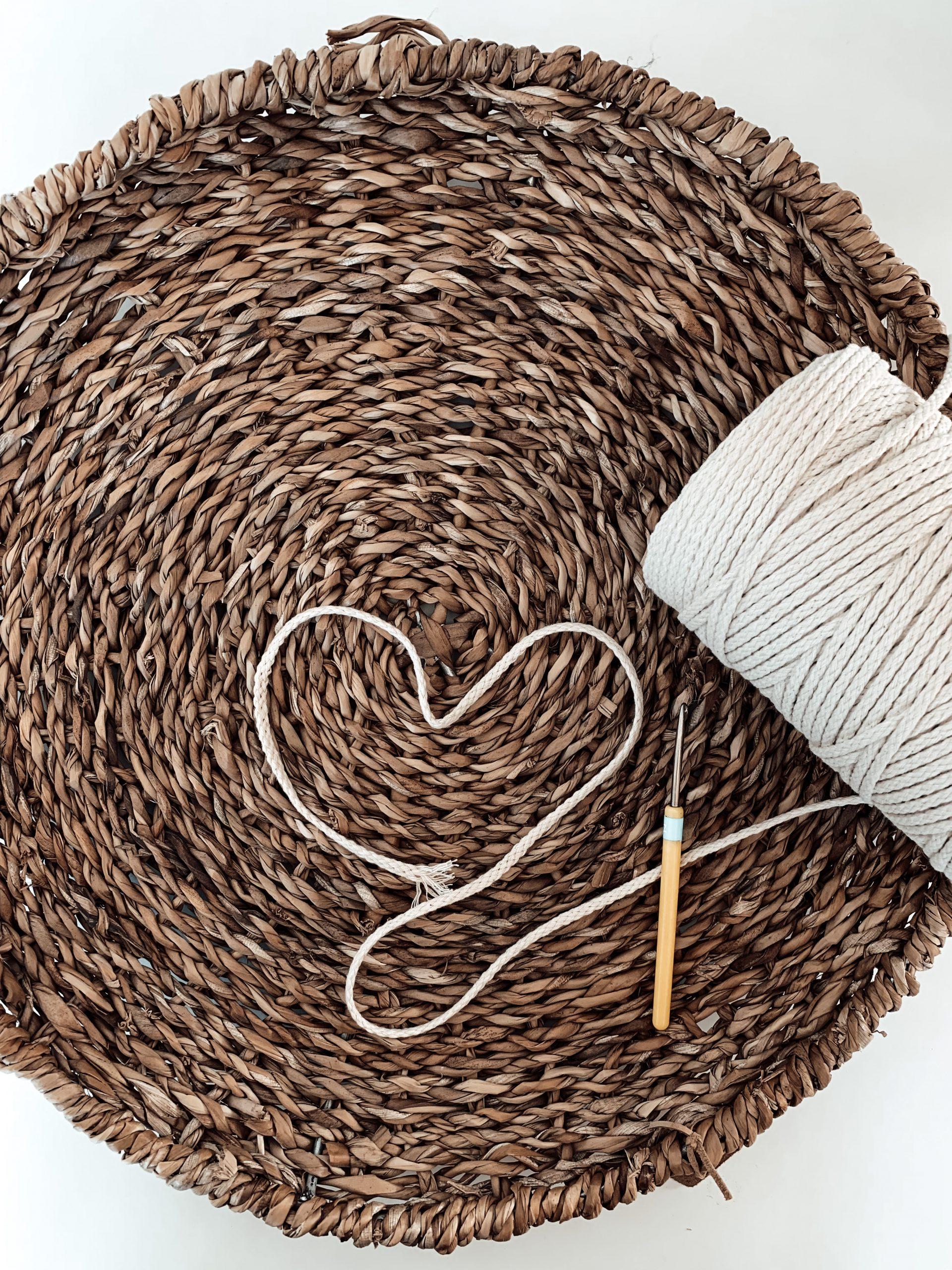 Material für einen Boho DIY-Korb