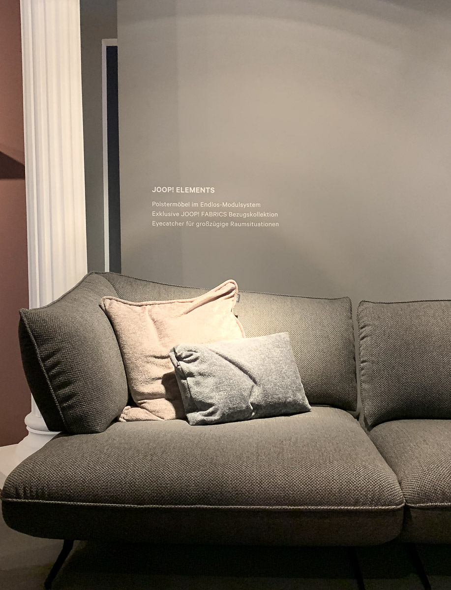 Möbelausstellung Messe Köln Couch Joop Living