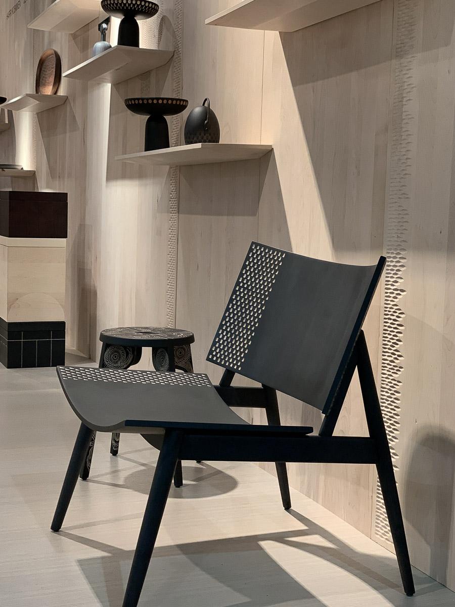 IMM Cologne Stuhl Holz schwarz