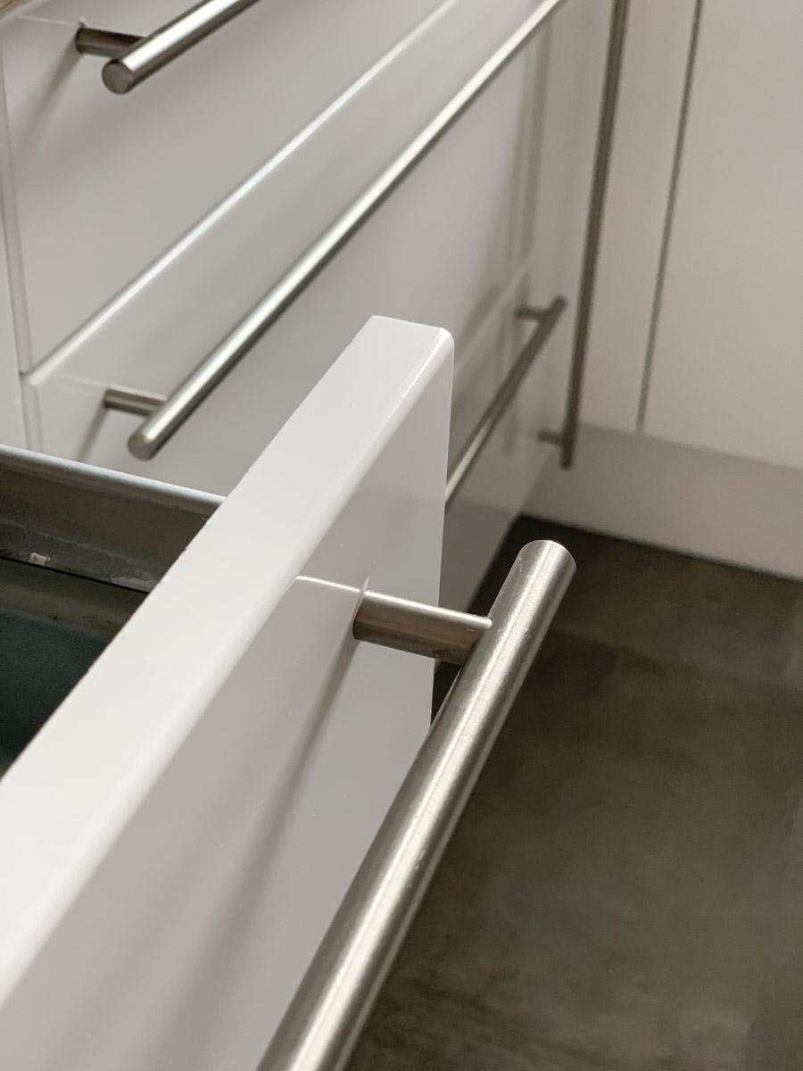 Folierte Küchenschränke Detailaufnahme