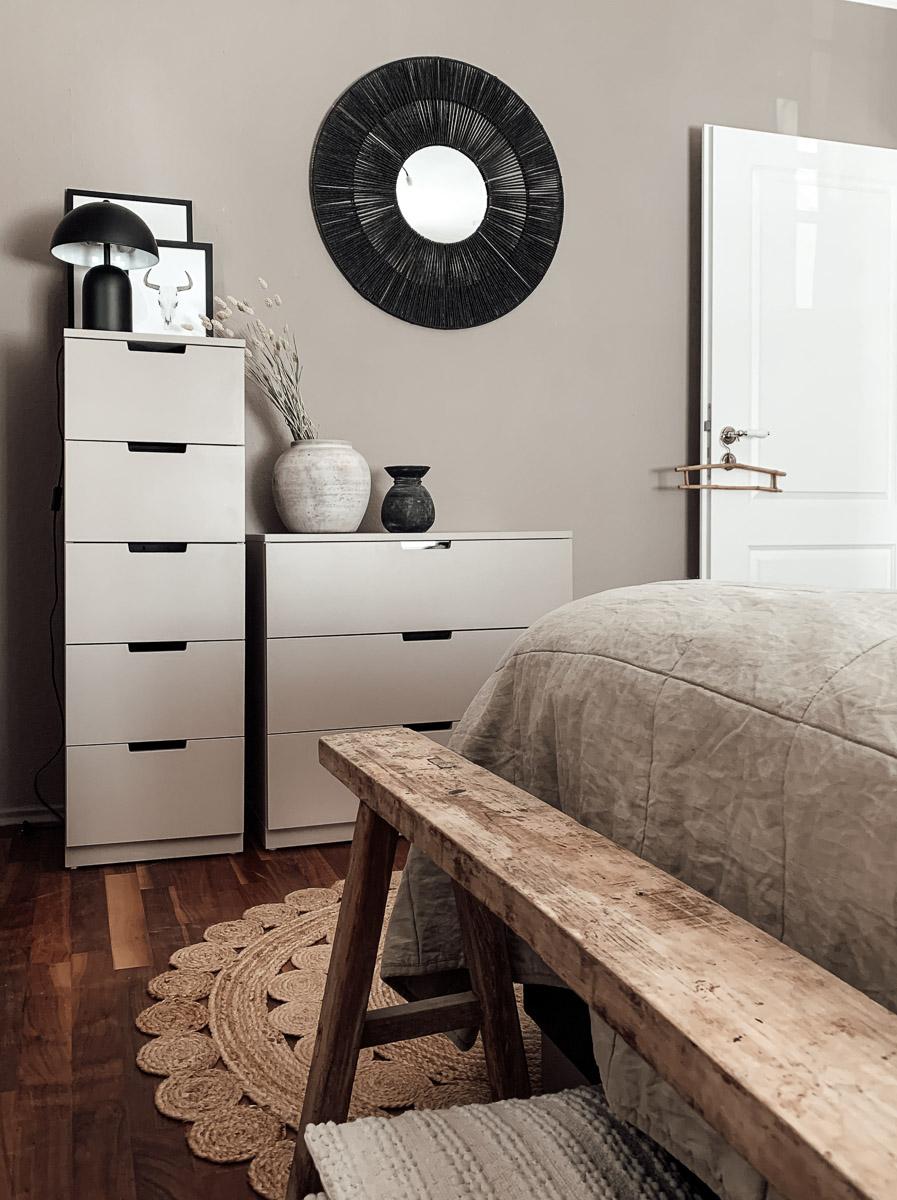 Schlafzimmer Makeover neue Wandfarbe