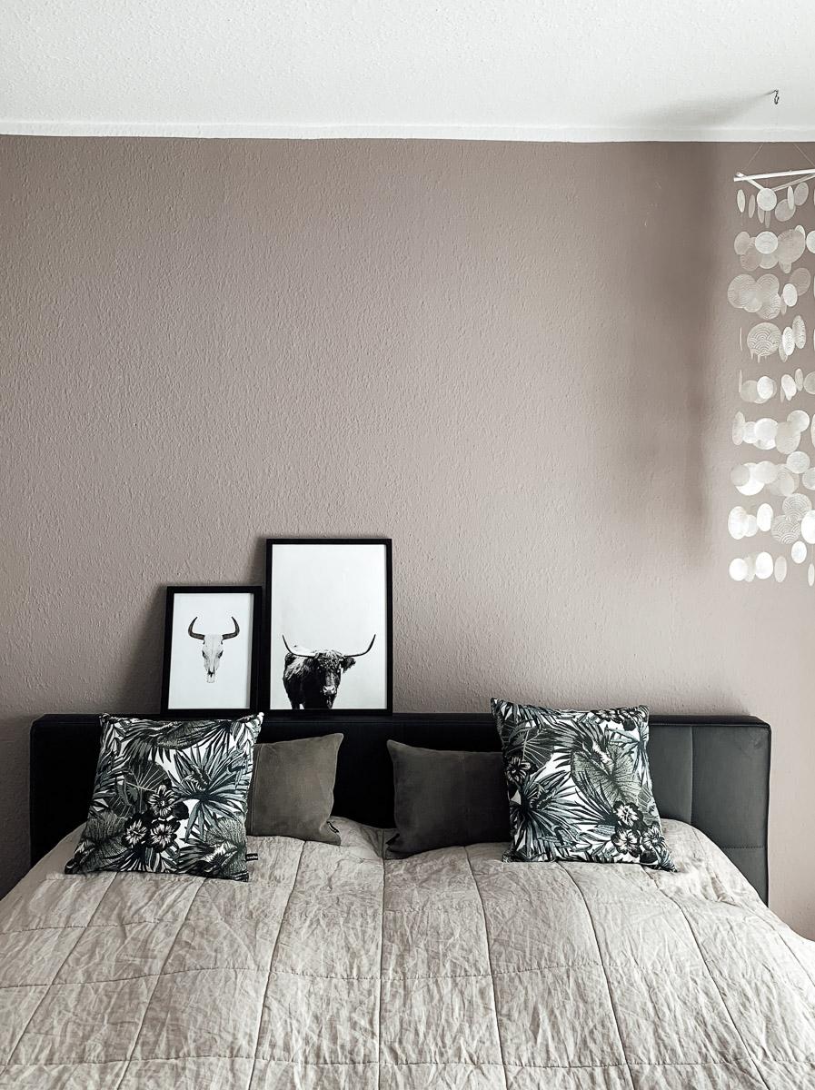Schlafzimmer Renovierung Nachherbild Bett