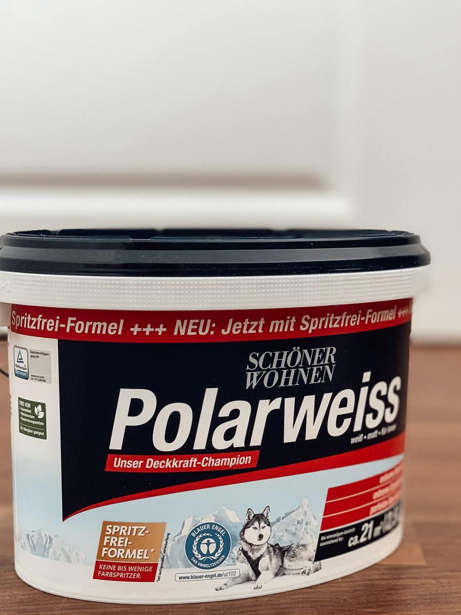Polarweiss Farbe für Schlafzimmer Makeover
