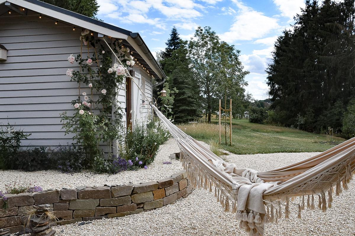 Gartenhütte im Farmhaus-Stil Nachher-Bild