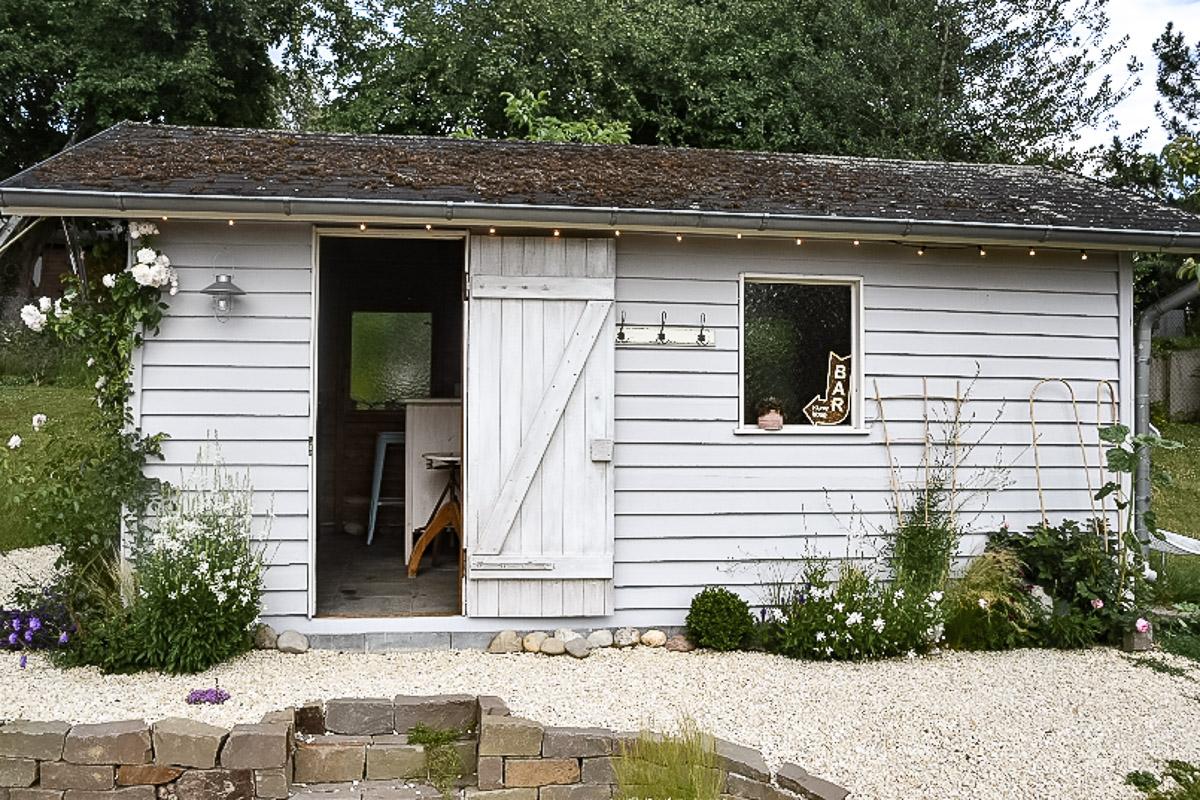Renovierte Hütte im Garten