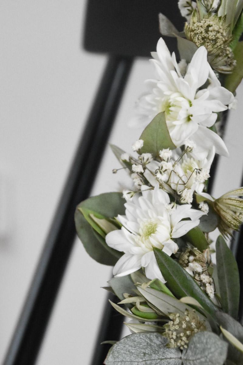 Blumendekoration Wohnzimmer