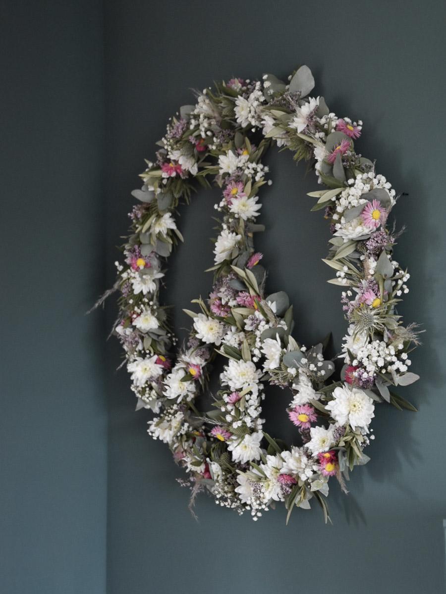 Peacezeichen aus Blumen