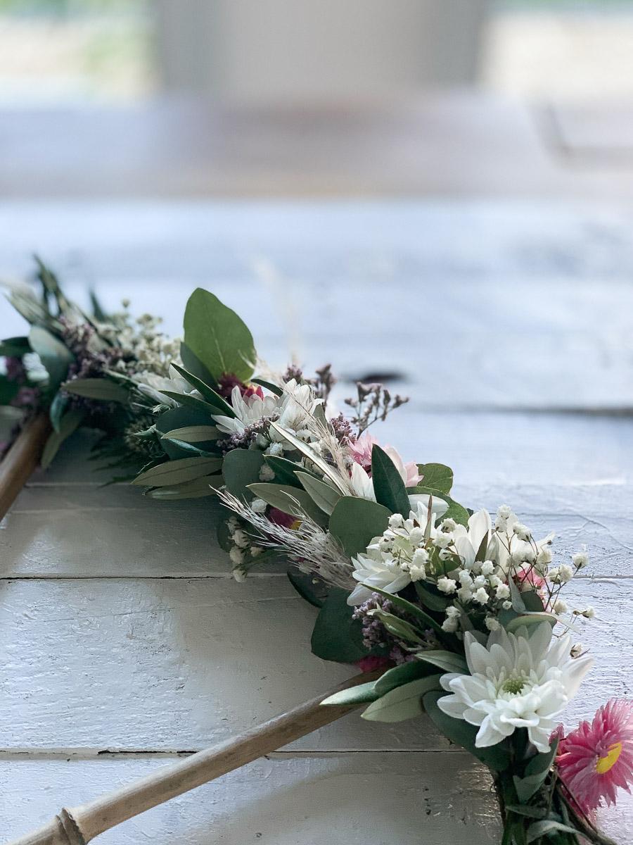 Spray-Chrysantheme Pina Colada als trendige Blumendekoration