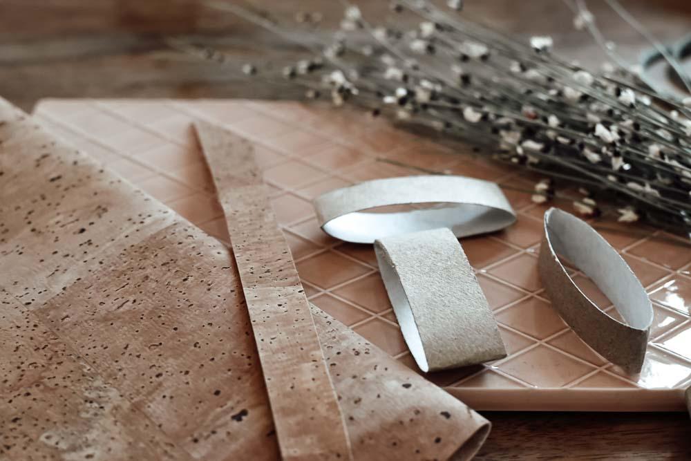 Materialien für DIY Serviettenringe