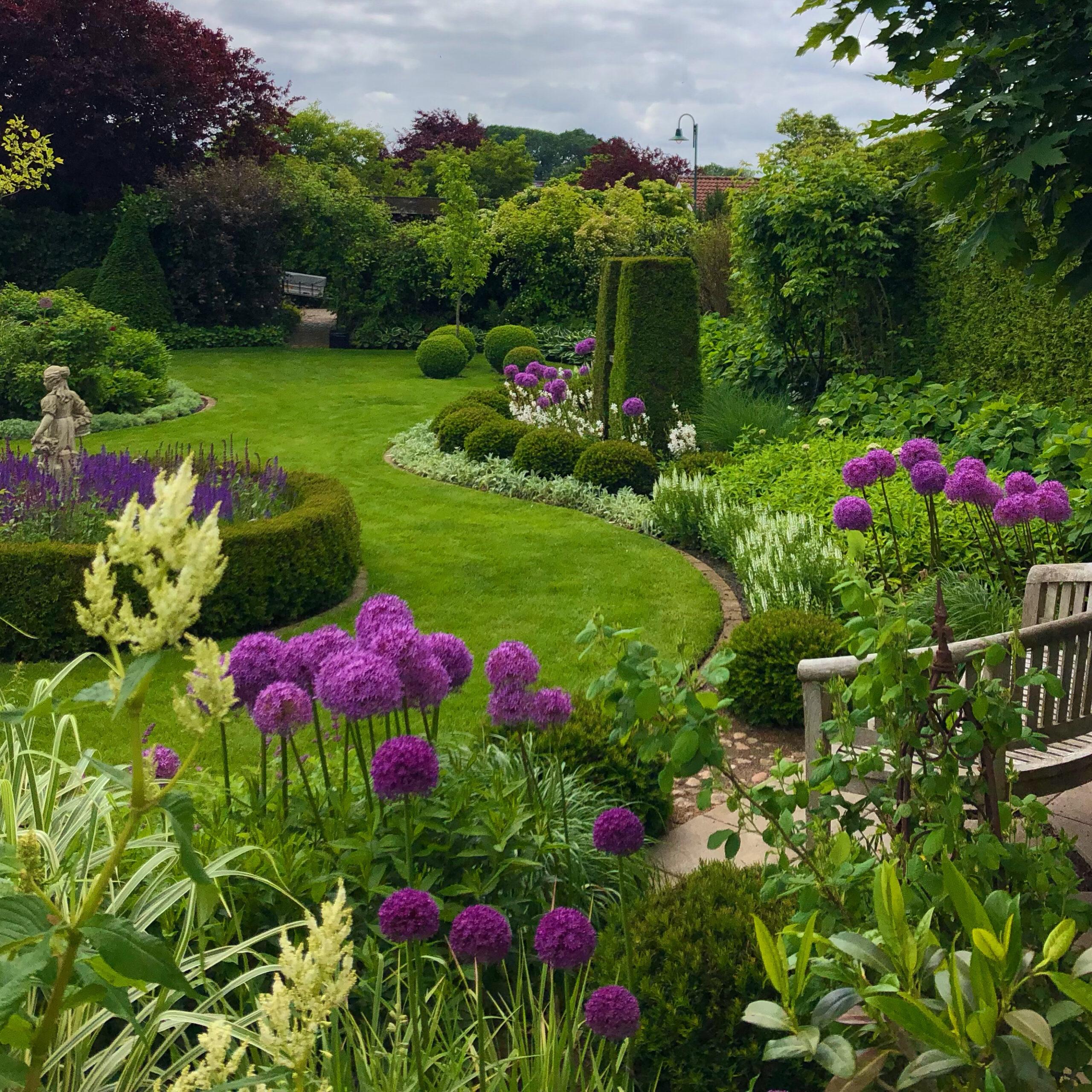 englischer Garten  in der Lüneburger Heide