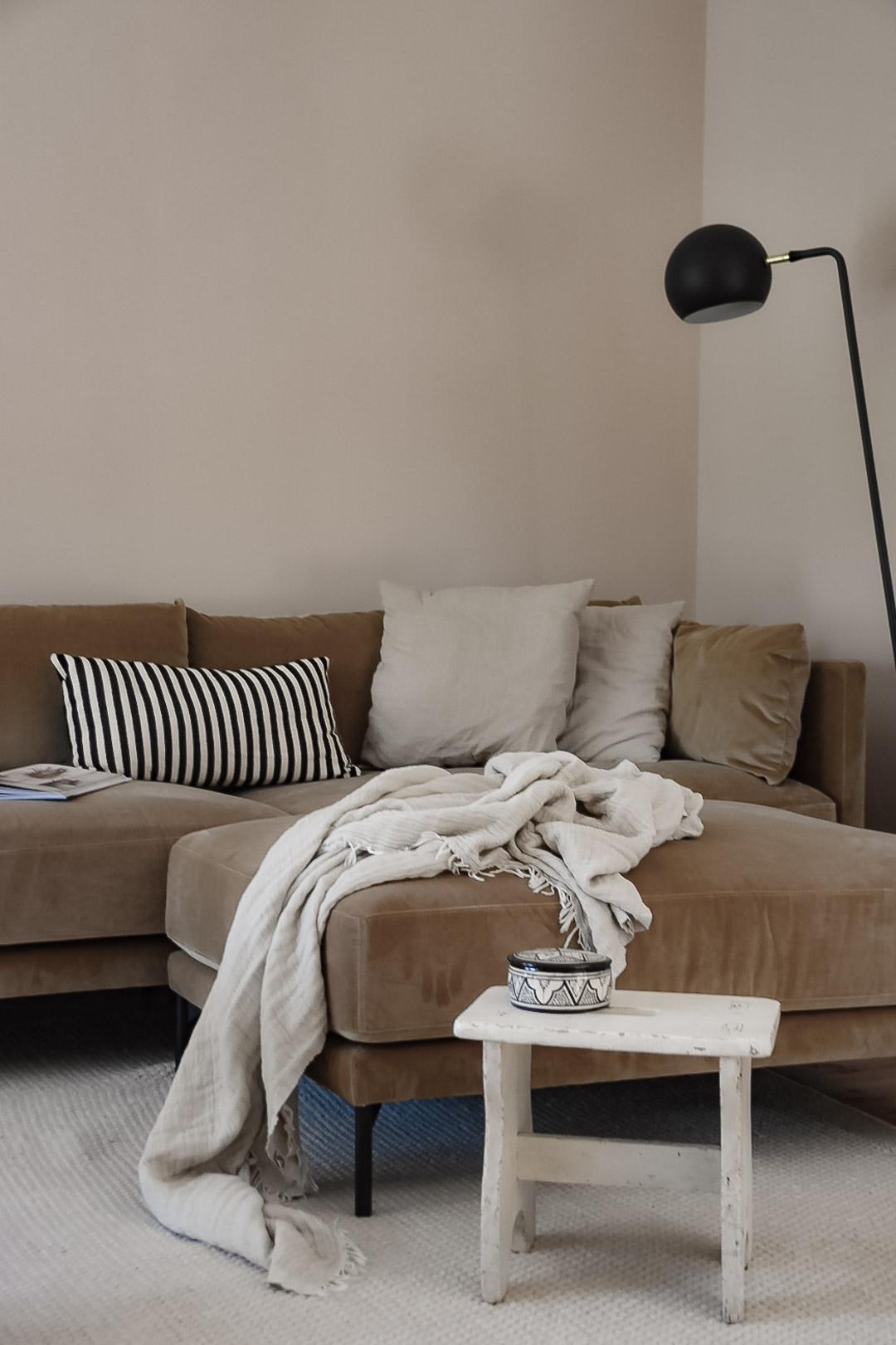 Sofa Ansicht Wohnzimmer